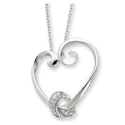 Loveknots Heart Necklace
