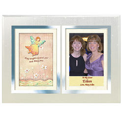 Personalized Angels Double Frame for Sister