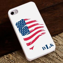 Proud to Be an American Monogrammed iPhone Case