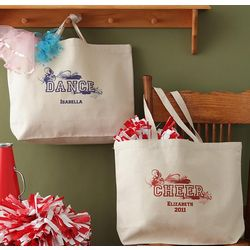 Personalized Girl's Cheerleading, Dance or Ballet Totebag