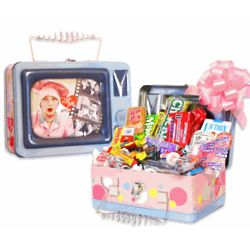 I Love Lucy TV Tin Candy Box