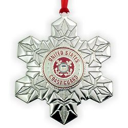 Personalized Coast Guard Military Service Christmas Ornament