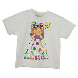 Personalized Big Sister with Brown Hair T-Shirt