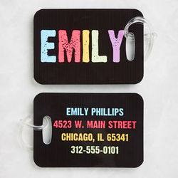 Hands Off Personalized Kid's Luggage Tag Set