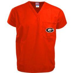 Georgia Bulldogs Red Scrub Top