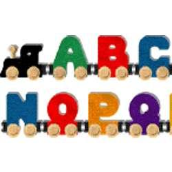Whole Alphabet Wooden Toy Train - FindGift com