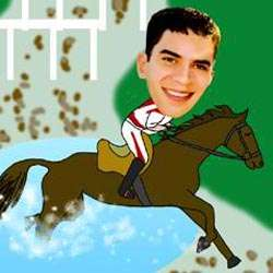 Your Photo in a Horse Racing Caricature