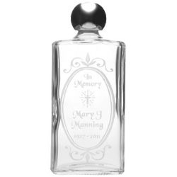 Personalized Memorial Holy Water Bottle