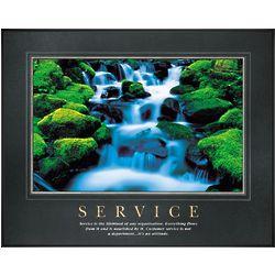 Service Waterfall Motivational Poster