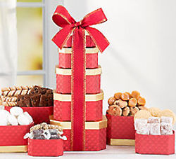 Chocolate and Cookie Gift Tower