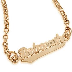 Gold Over Sterling Script Name Bracelet
