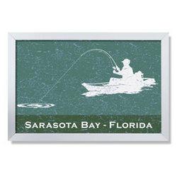 Personalized Framed Kayak Fishing Sign