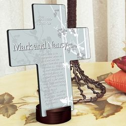 Personalized Faith and Flower Prayer Cross
