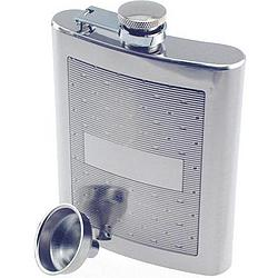 Personalized Horizontal Lines & Dimples Hip Flask