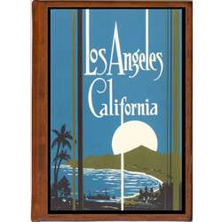 Los Angeles 6 Vintage Travel Art Handmade Leather Photo Album
