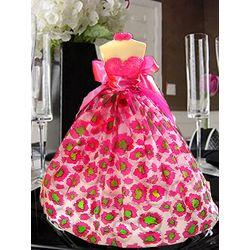 Gourmet Hot Pink Leopard Chocolate LolliDoll
