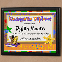 Little Graduate Personalized Kid's Diploma Plaque