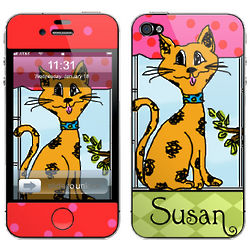 Kitty Kat Personalized Cell Phone Skin