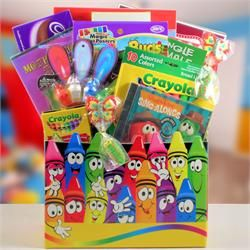 Smiling Crayons Children's Gift Basket