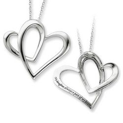 Part of My Heart Sterling Silver Pendant for Daughters