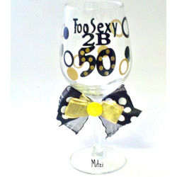 Personalized 50th Birthday Wine Glass