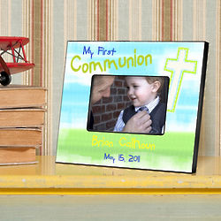 Personalized Bright Blessings First Communion Picture Frame