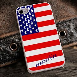 Show Your Colors Patriotic iPhone Case with White Trim