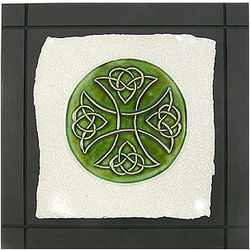 Celtic Cross Ceramic Wall Hanging