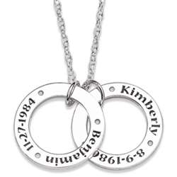 Personalized Couples Mini Circle Necklace