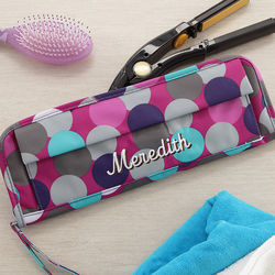 Personalized Confetti Dots Flat Iron Case