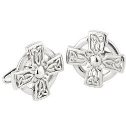 Celtic Knot Cross Cufflinks