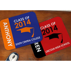 Personalized Graduation Excitement Mouse Pad