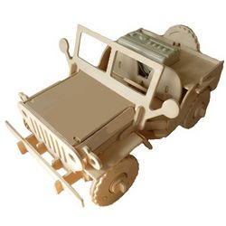 3D Wooden Robotic Puzzle Off Road Utility Vehicle