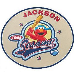 Personalized Team Sesame Street Character Round Doormat