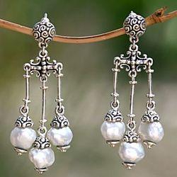 Borobudur Cultured Pearl Earrings