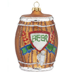 Personalized Beer Barrel Christmas Ornament
