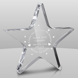 Shining Star Personalized Baby Keepsake