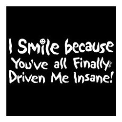 You've Finally Driven Me Insane T-Shirt