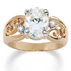 DiamonUltra Cubic Zirconia Ring