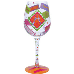 """A"" Wine Glass"
