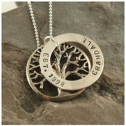 Affinity Family Tree Hand Stamped Necklace