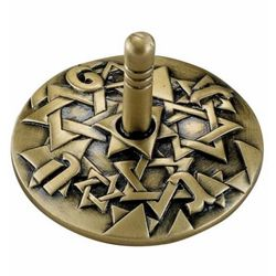 Antique Bronze Star of David Dreidel