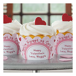 Be My Sweet Personalized Cupcake Wrapper Set