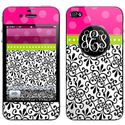 Personalized Damask Monogrammed iPhone Skin