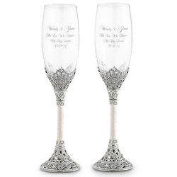 Fifth Avenue Champagne Toasting Flutes