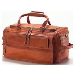 Multi-Compartment Leather Duffel