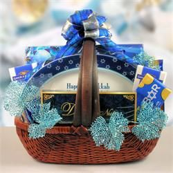 Gift Basket With Hanukkah Platter