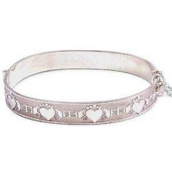 Sterling Silver Claddagh Gaelic Bracelet