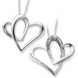 Part of My Heart Sterling Silver Pendant for Mothers
