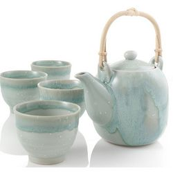 Yuki Green Drip Tea Set